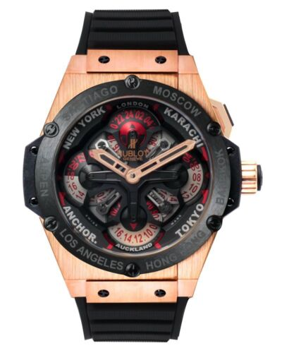 HUBLOT BIG BANG KING POWER UNICO 48 GMT 18K ROSE GOLD AUTOMATIC WATCH $48,200 - watch picture 1