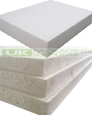 6 WHITE POLYSTYRENE FOAM SHEETS EPS70 SIZE 1200 x 600 x 50mm SDN INSULATION