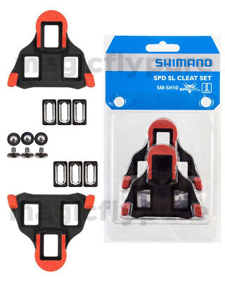 016388241e20 Shimano SM-SH10 SPD-SL Road Cleat Set Cleats fixed 0° Red
