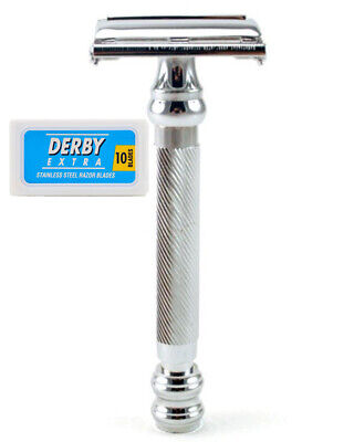 Best Shave 99R Butterfly Open Double Edge Safety Razor With 10 Free Derby