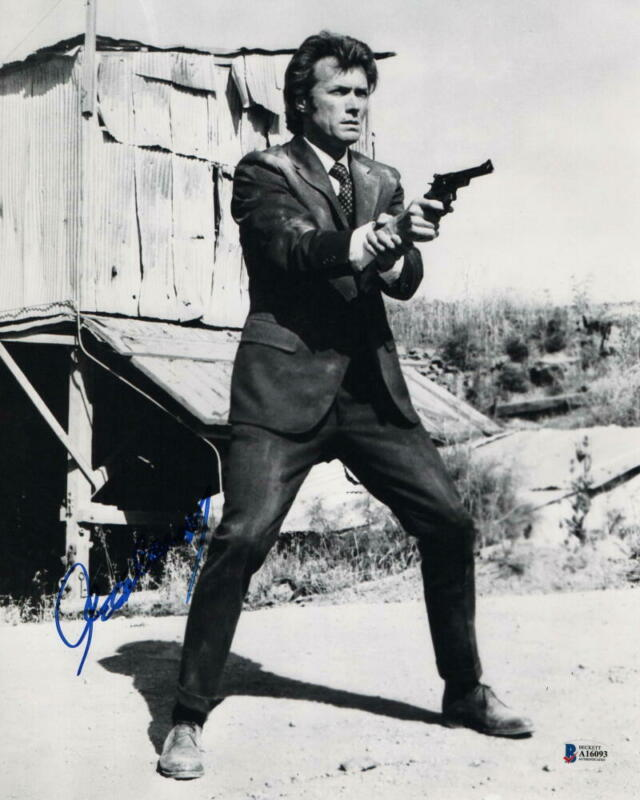CLINT EASTWOOD SIGNED AUTOGRAPH 11x14 PHOTO - DIRTY HARRY, MOVIE ICON, BECKETT
