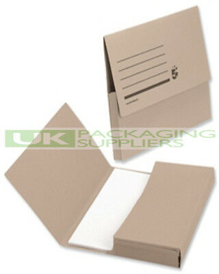 200 BROWN CARD HALF FLAP STORAGE FILES FOLDERS WALLETS FOR A4 DOCUMENT FILING