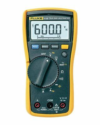 Fluke 115 Compact True-rms Digital Multimeter Cat Iii 600 V Safety Rated