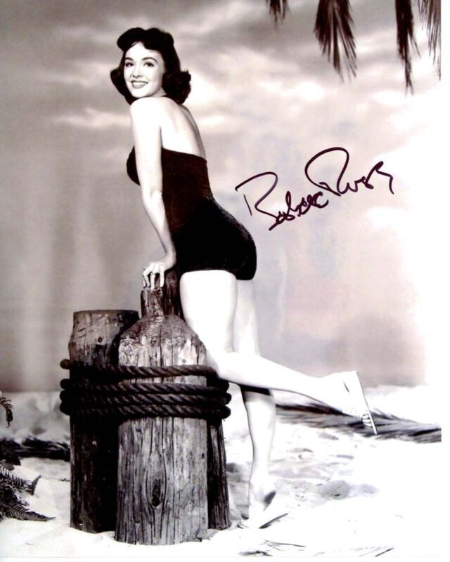 BARBARA RUSH signed autographed SEXY BATHING SUIT 8x10 photo