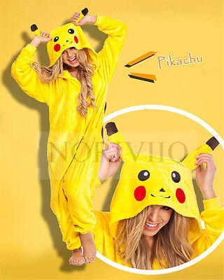 Pokemon Adult Cartoon Sleepwear Animal Kigurumi Pikachu Pyjamas Family  - Pokemon Family Costumes