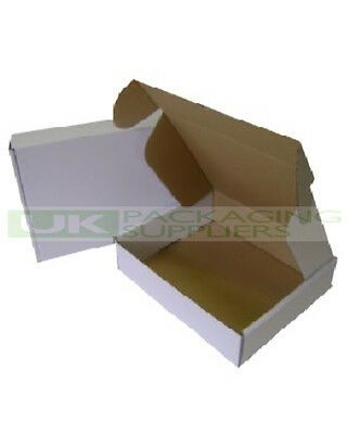 200 WHITE ROYAL MAIL SMALL PARCEL POSTAL BOXES - SIZE 440 x 349 x 79mm - NEW