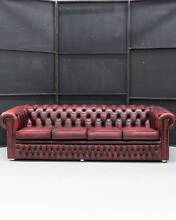 4 Seater ENGLISH VINTAGE LEATHER CHESTERFIELD From UK Hemmant Brisbane South East Preview