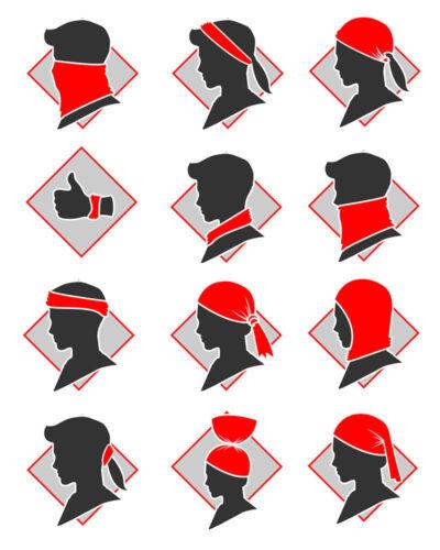 Bandana Kopftuch Totenkopf Typographie