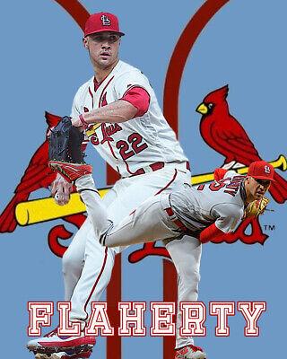 St. Louis Cardinals  Lithograph print of Jack Flaherty 2020 8 x 10 Louis Cardinals Lithograph