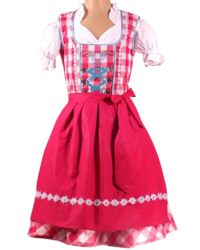 Girls,Kids,US sz 11,Germany,Trachten,Oktoberfest,Dirndl Dress,3-pc.Pink,B-Ware