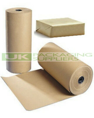 2 LARGE ROLLS OF 88gsm PURE KRAFT BROWN WRAPPING PARCEL PAPER 1150mm x 225 Metre