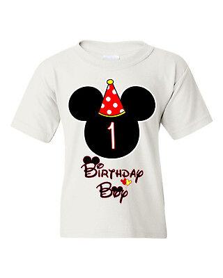 Birthday Boy Kids T-shirt. Mickey Mouse birthday shirt customized with any age. - Mickey Mouse Birthday Boy