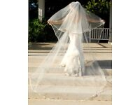 Two tier cathedral veil (Ivory)