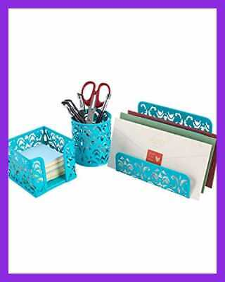 Easypag Desk Organizer Accessories Set 3 Pc Includes Letter Sorter Pen Holder