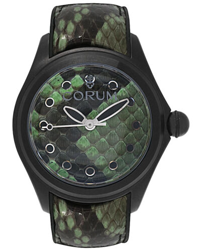 CORUM BUBBLE 47mm PYTHON DIAL & STRAP PVD COATED AUTOMATIC MEN'S WATCH $5,800 - watch picture 1