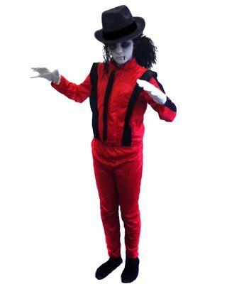 Jungen Halloween-kostüme (KINDER DELUXE JUNGEN JACKO ZOMBIE HALLOWEEN KOSTÜM VERKLEIDUNG POPSTAR TOTER )