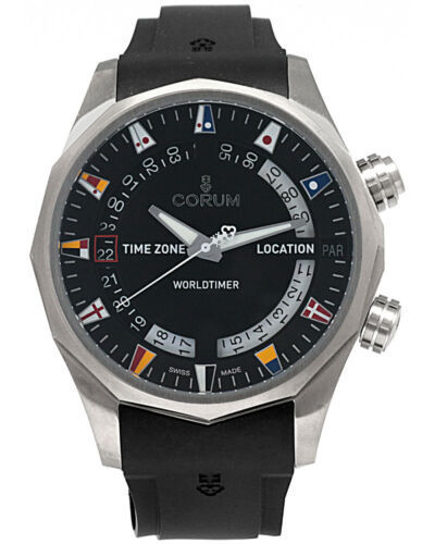CORUM ADMIRAL LEGEND 47mm WORLDTIMER TITANIUM AUTOMATIC MEN'S WATCH $10,500 - watch picture 1