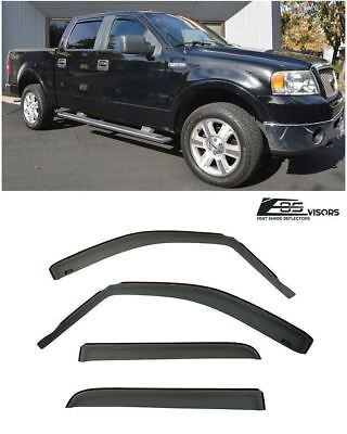 - For 04-08 Ford F-150 Truck Crew Cab IN-CHANNEL Side Window Frame Rain Deflectors