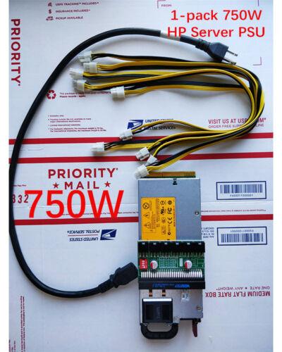 750W PSU Power Supply Kit 6-8pin GPU mining #Ethereum and more