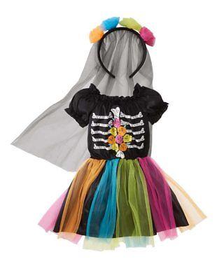 Halloween Fasching Karneval Kostüm Tote Prinzessin - Gr. S 116 (4-6 Jahre) ()