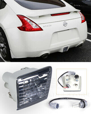 For 09-Up Nissan 370Z Z34 JDM Crystal Smoke Lens Rear Fog Light Tail Brake Lamps