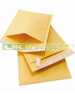 50 LARGE 260 x 345mm GOLD PADDED BUBBLE SELF SEAL ENVELOPES MAILERS - NEW
