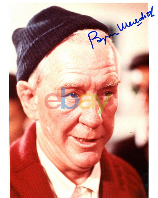 Burgess Meredith Autographed 8 x 10 Rocky Red Sweater reprint