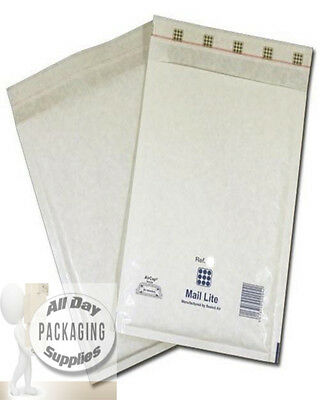 """500 LARGE 14 X 18.5"""" K7 MAIL LITE BUBBLE ENVELOPES PADDED MAILING BAGS WHITE"""