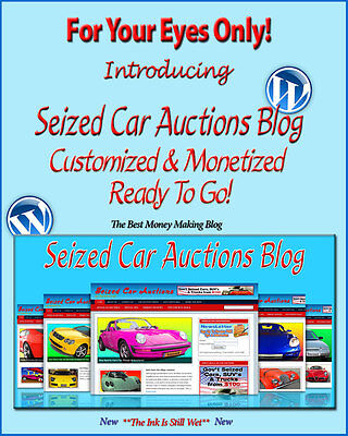 Seized Car Auctions Blog Self Updating Website - Clickbank Amazon Adsense Pages