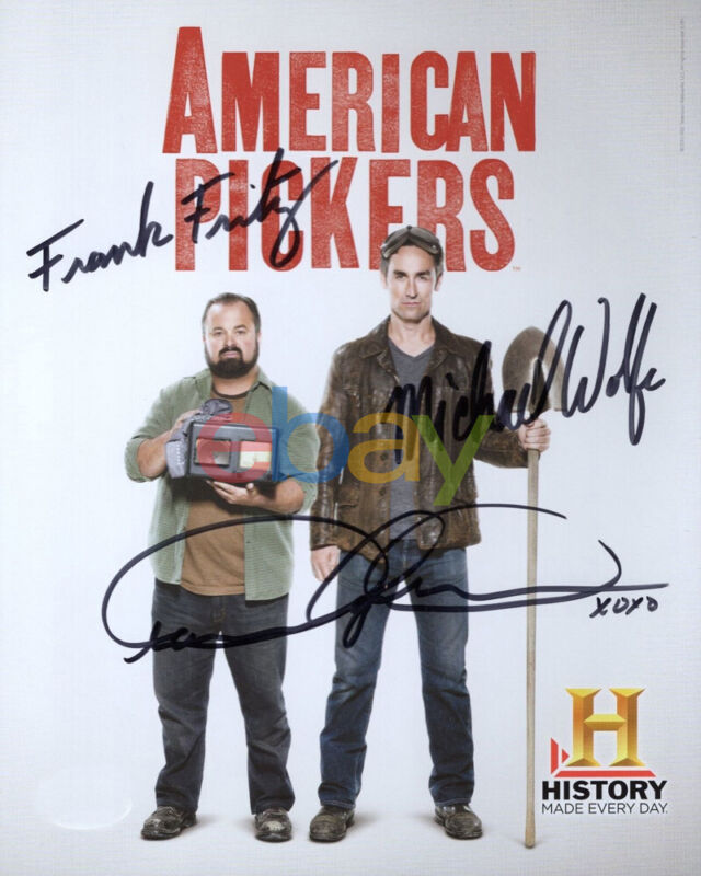 AMERICAN PICKERS SIGNED 8x10 PHOTO SIGNED BY MIKE+FRANK+DANIELLE reprint