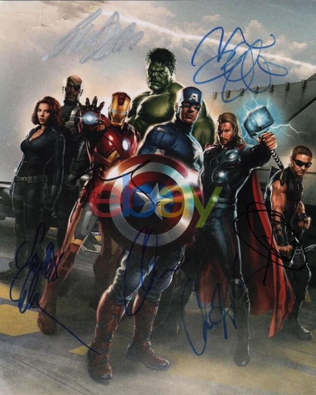 Avengers Cast Signed 8x10 Autographed Photo reprint