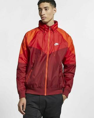 Men's Nike Sportswear Windrunner Packable Hood Windbreaker Jacket Team Red (XL)