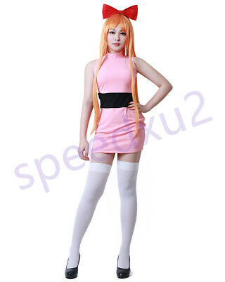 Girls Blossom Bubbles Buttercup Adults Cosplay Costume Fancy Dress](Buttercup Costumes)
