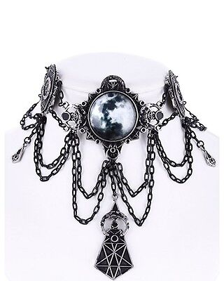 Restyle Moon Geometry Choker Gothic Witch Occult Alchemy Necklace