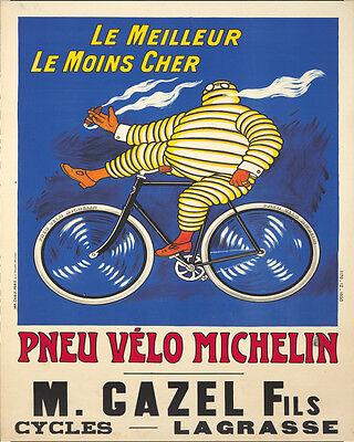 (Michelin Tire advertisement ENAMEL METAL TIN SIGN WALL PLAQUE)