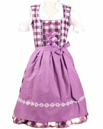 Girls,Kids,US sz 10,Germany,German,Trachten,Oktoberfest,Dirndl Dress,3-pc purple