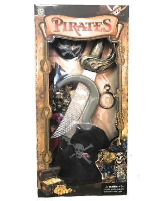 Set Accessori Pirata Uncino Pugnale Carnevale Pirati PS 26570