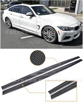 For 14-Up BMW F32 F33 F36 4-Series M-Sport CARBON FIBER Side Skirts Extension