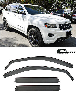 For 2011-Up Jeep Grand Cherokee IN-CHANNEL Smoke Tinted Side Vents Rain -