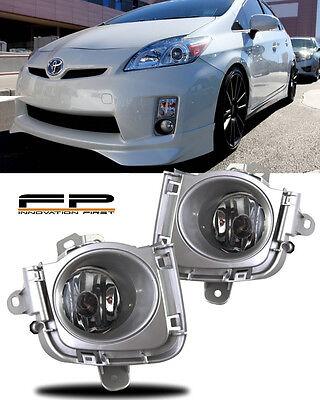 2010 2011 Toyota Prius Fog Lights Clear Lens Front Driving Lamps COMPLETE KIT Custom Driving Light Kit