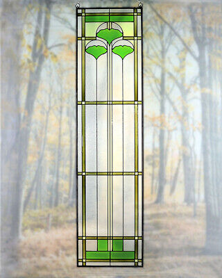 Arts and Crafts Ginkgo Stained Glass Panel 35.5