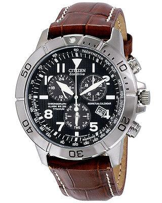 Citizen BL5250-02L Men's Watch Titanium  Perpetual Calendar Leather Strap