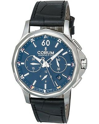 CORUM ADMIRAL'S CUP LEGEND 42 CHRONOGRAPH AUTOMATIC MEN'S WATCH BLUE DIAL $4,850