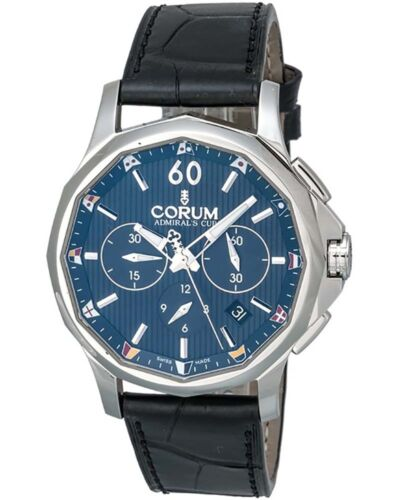 CORUM ADMIRAL'S CUP LEGEND 42 CHRONOGRAPH AUTOMATIC MEN'S WATCH BLUE DIAL $4,850 - watch picture 1