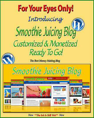 Smoothie Juicing Blog Self Updating Website Clickbank Amazon Adsense Affiliates