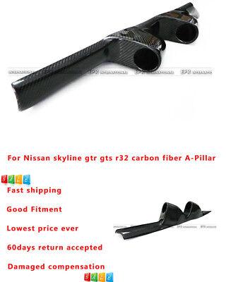Carbon Fiber For Nissan R32 GTS GTR Inner window A-Pillar 52mm Twin Gauge Pod