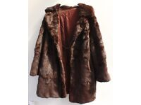 Vintage Genuine Fur Coat Mid Length Rabbit