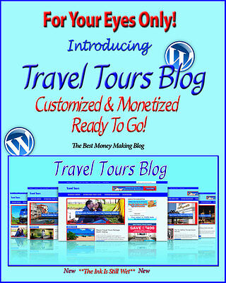 Travel Tours Blog Self Updating Website - Clickbank Amazon Adsense Lot More