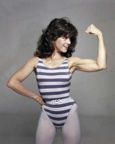8x10 Print Jane Fonda Workout Pose  #5502691