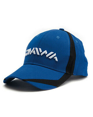 9642f44e77adc DAIWA BLUE   BLACK FLASH VENTED PEAKED BASEBALL CAP HAT CARP FISHING  ACCESSORY